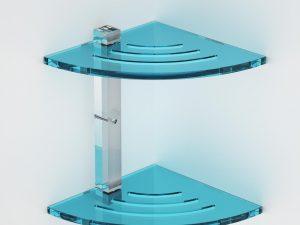 Mensola ad angolo doppia in plexiglass