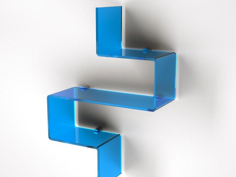 Mensola modulare in plexiglass