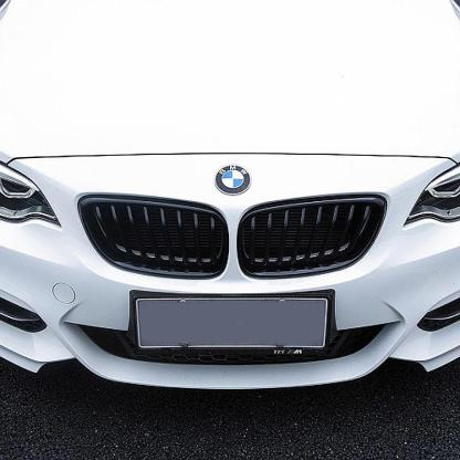 For 14-18 BMW F22 F23 2-Series Use Front Kidney Grille in Gloss Jet Black Color