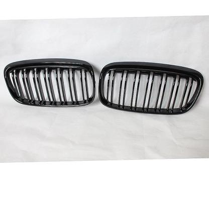 M Style Gloss Shiny Black Front Grille For 14-16 BMW F45 2-Series Active Tour