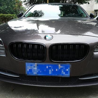 For 10-16 BMW 5 Series F10/F11 M5 550i 535i Kidney Grill Gloss Black Dual Slats