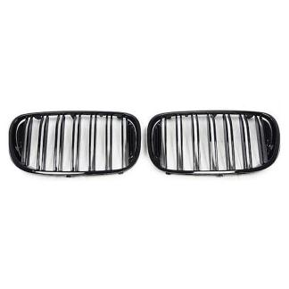 M Style Gloss Black Front Hood Grille Kits For 2016+ BMW G11 G12 7-Series Sedan