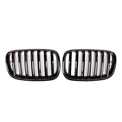 Gloss Black Grille Grill Fit for BMW X5 X5M X6 X6M E70 E71 2006-2014