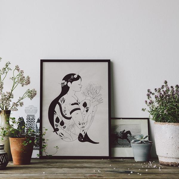 summer forest goddess karolin schnoor - the future kept