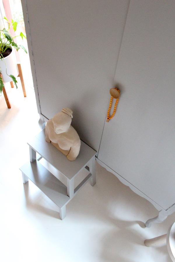 workspace makeover - Accessorize your Home - vintage cabinet - Flexa zilvergrijs