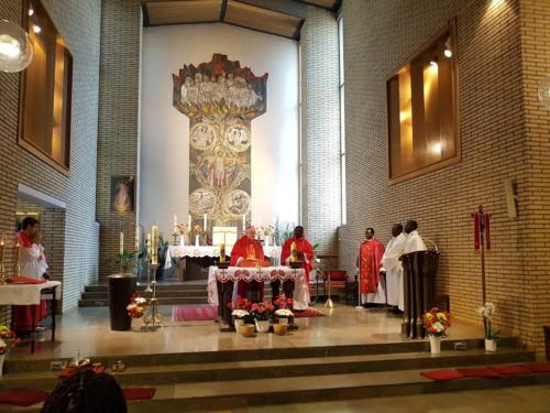 On Pentecost Sunday, Bishop Teemu Sippo SCJ celebrated the inaugural Mass of the African Catholic Chaplaincy in Finland at St Mary's Church in Helsinki.