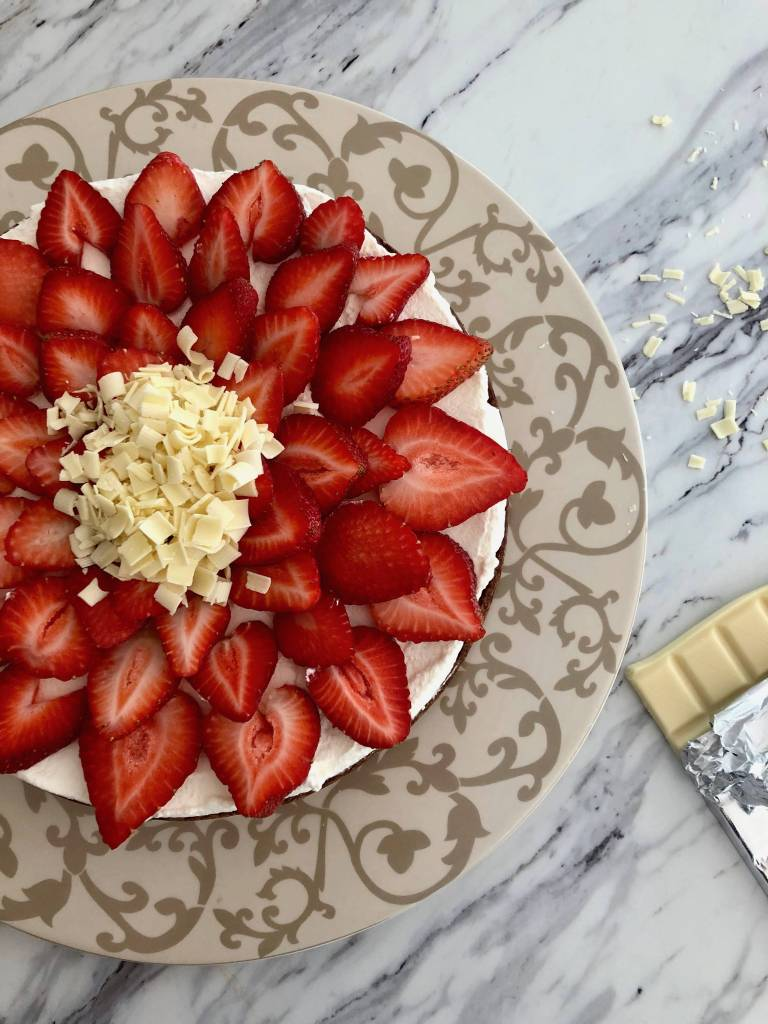 Strawberry Topped Chocolate Torte | Accidental Artisan