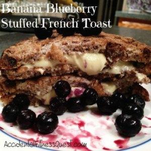 Banana Blueberry Stuffed French Toast
