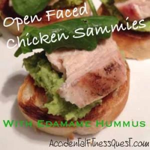 Chicken Sammies with Edamame Hummus