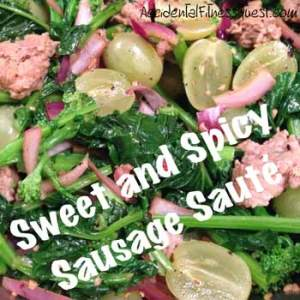 Sweet and Spicy Sausage Saute