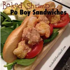 Baked Shrimp Po Boy Sandwiches