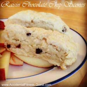 Raisin Chocolate Chip Scones