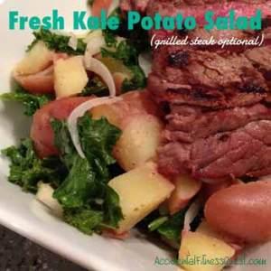 Fresh Kale Potato Salad