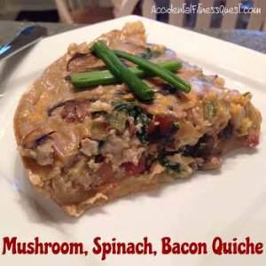 Mushroom Spinach Bacon Quiche