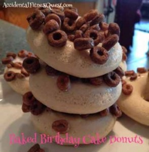 Baked Birthday Cake Donuts