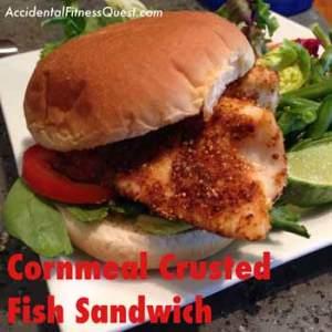 Cornmeal Crusted Fish Sandwich