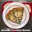 Dairy Free Spinach Zucchini Quiche