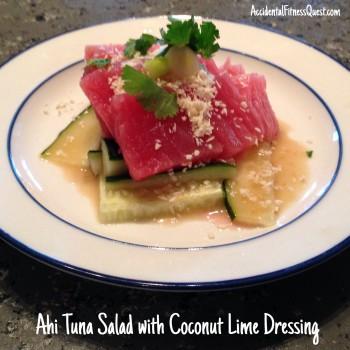Ahi Tuna Salad with Coconut Lime Dressing