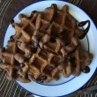 Double Chocolate Protein Waffles
