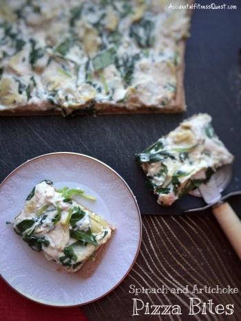 Spinach and Artichoke Pizza Bites