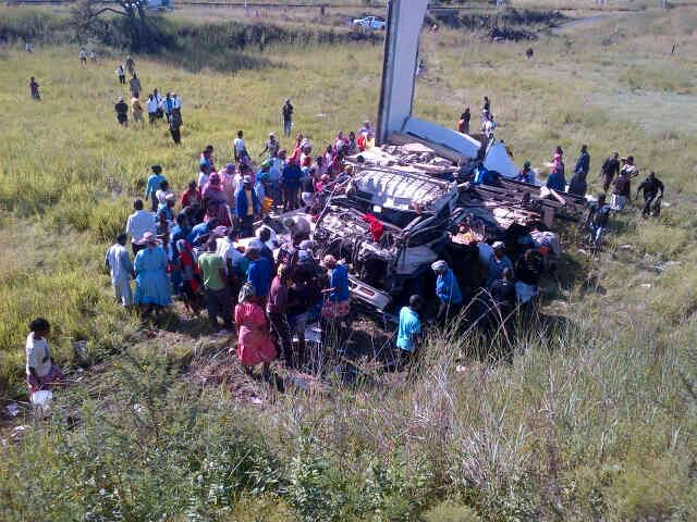 Four injured in truck collision near Ladysmith