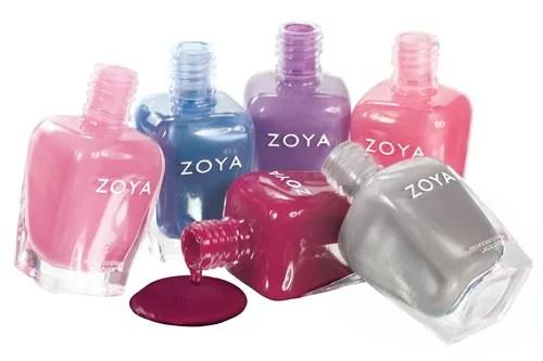 Zoya nail polishes stack