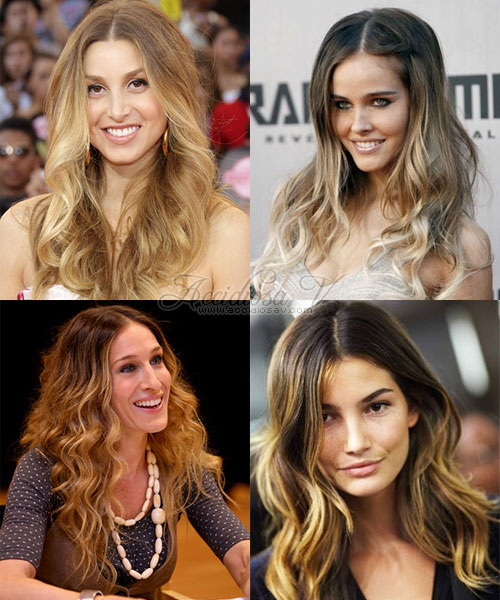 ombre hair blond light hair - whitney port, isabel lucas, lily aldridge, sarah jessica parker