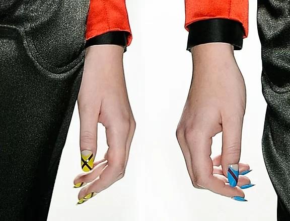 Nailart trend - fashion week - ruffian - spring 2012