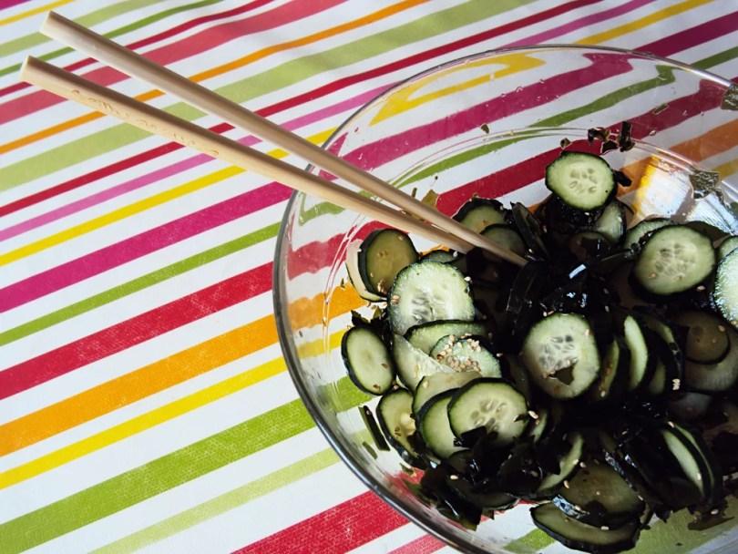 Kyuri No Sunomono - Insalata giapponese di cetrioli e alghe   AccidiosaV