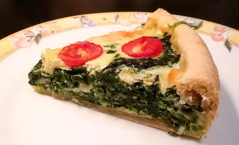 torta salata con spinaci ricotta pomodorini parmigiano asiago pasta sfoglia