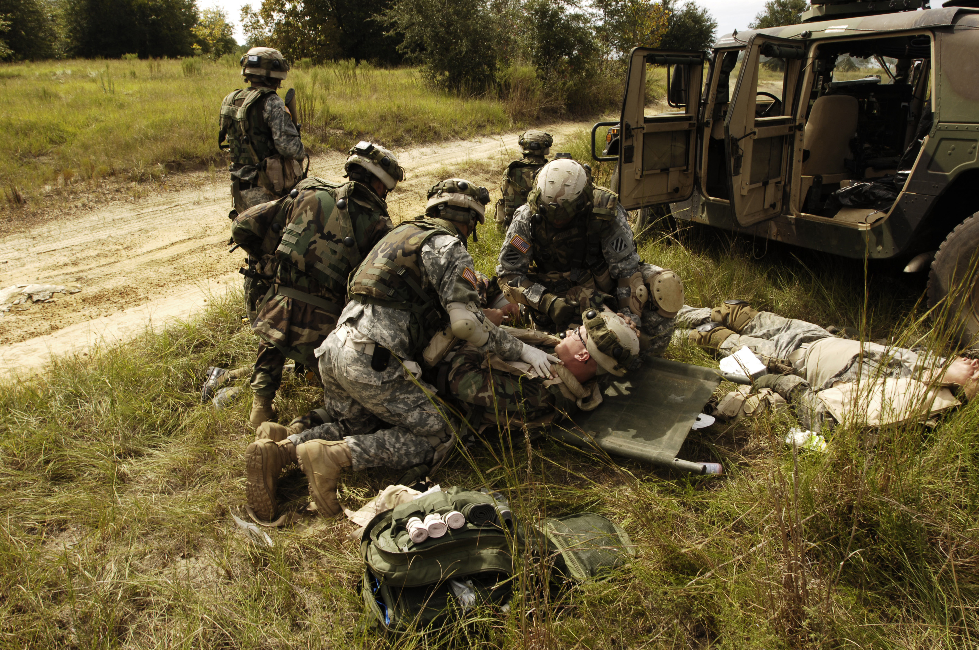 U S Army Sol Rs Providing Medical Attention For A