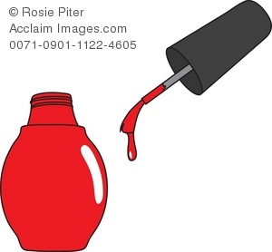 Clippers File And Nail Polish Royalty Free Clipart Picture