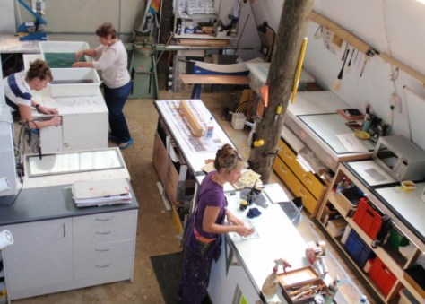 Printmaking courses at Wharepuke Kerikeri Bay of Islands NZ