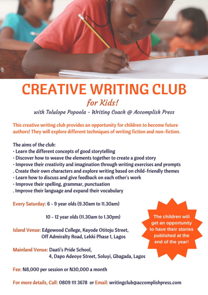Creative Writing Club for Children in Lagos