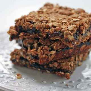 oat & plum bars