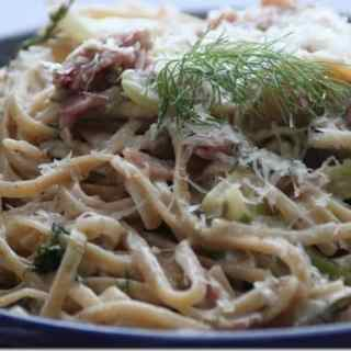 Pasta Noe: Fennel, Pancetta & Greek Yogurt Alfredo Pasta