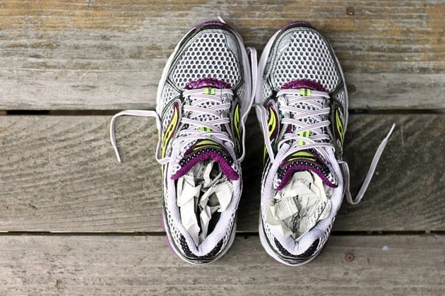 How to dry sneakers running shoes