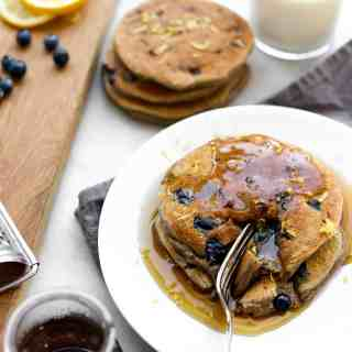 Lemon Blueberry Buckwheat Ricotta Pancakes
