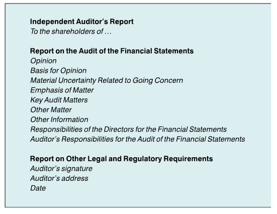 Special Feature The New AuditorS Report  Accountancy Sa