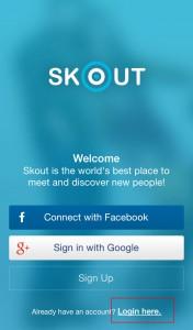Login www skout SKOUT