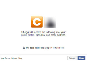 Chegg Facebook Login