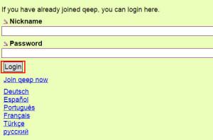 Qeep web login