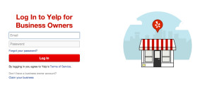 Yelp business login