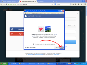 Zoosk Facebook Permissions