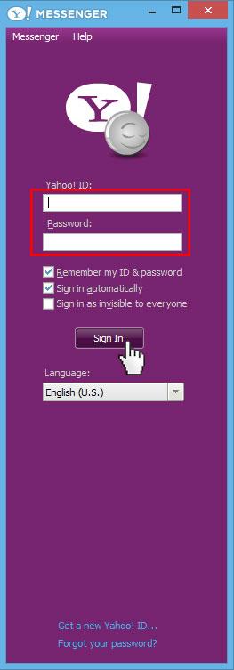Login Yahoo Messenger