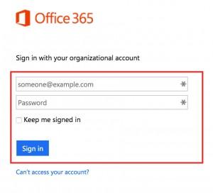 Login Office 365