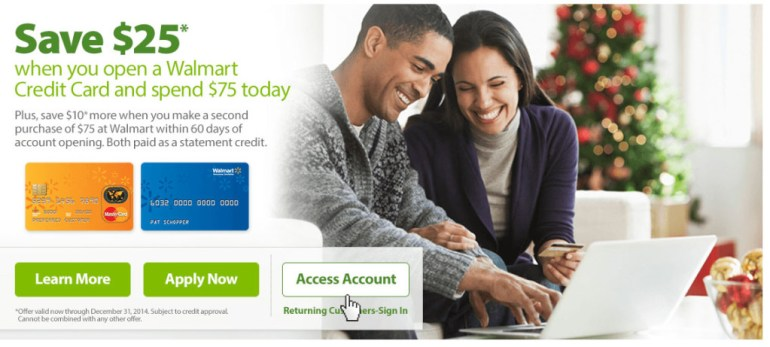 Walmart Credit Card Sign in