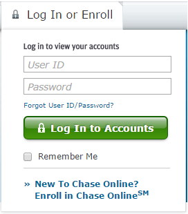 Chase SIgnup