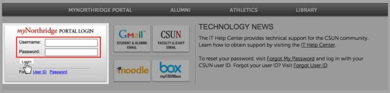 CSUN Portal login