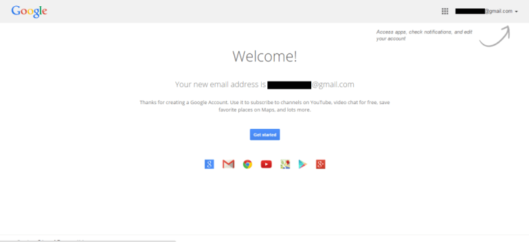 Google account complete